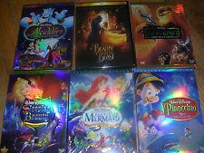 Disney DVD Lot: 4pc  Beauty &  Beast, Aladdin, Peter Pan Sleeping Beauty & more