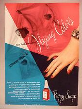 Peggy Sage Shimmer-Sheen Nail Polish PRINT AD - 1946
