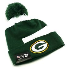 Green Bay Packers New Era Cuffed Whiz3 Pom Green White Beanie Toque Knit Hat Cap