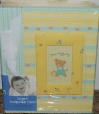 New C.R. Gibson Baby Girl or Boy Keepsake Chest Yellow