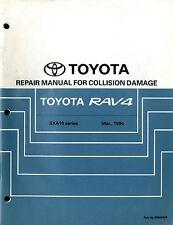 1994 TOYOTA RAV4 REPAIR MANUAL UNFALL SCHADEN COLLISION DAMAGE SXA10 BRM045E