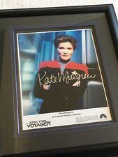 Star Trek Voyager Framed 10x8 Signed Photo Kate Mulgrew Autograph