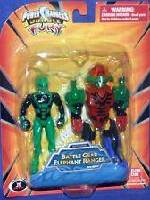 "Power Rangers Jungle Fury 4"" Green Elephant Battle Gear Megazord 2008 NEW"