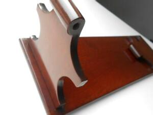 SUPER ANTIQUE QUALITY MAHOGANY WOODEN BOOK SLIDE REST STAND SHELF COUNTRY HOUSE