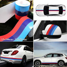 "New M-Color Stripe DIY Car Auto Body Modifield Vinyl Sticker Emblem 39""/1M Decal"