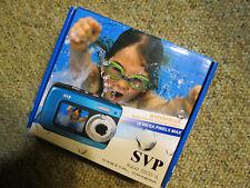 SVP Aqua 5500 18MP Dual Screen Waterproof Digital Camera With 8GB Card (Blue)