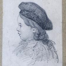 Dessin Original Mine Plomb Portrait d'enfant époque XIXè Original Drawing 19thC