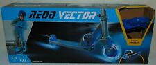 Brand New Neon Kick Scooter Vector Blue for Kids, Foldable w Led Light-up Wheels