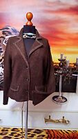 MARC CAIN GR.42-44  N5 Damen Wolle Jacke Strickjacke braun -Women's jacket