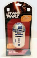 Star Wars R2-D2 With 2 USB Ports / Wall Charger & Lights up!