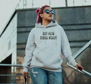 Not slim kinda shady Ladies hoodie printed slogan unisex cute trendy hooded top