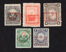 Peru 1890 5 stamps Mi#1-2+4+6-7 MH/MNG  CV=21.10€