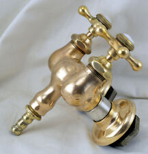 Antique Mueller Claw Foot Tub Brass Faucet add a Shower & Porcelain Cap Handles