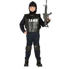 Cappello poliziotto SWAT FBI POLIZIOTTO Cappello Nero da Uomo Adulti Costume Accessorio Nuovo