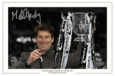 MICHAEL LAUDRUP SWANSEA CITY CAPITAL ONE FINAL SIGNED PHOTO AUTOGRAPH PRINT