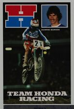 1981 DONNIE HANSEN TEAM HONDA CR250R AHRMA Post Card Vintage Motocross CR125R