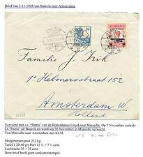 NED INDIE  1928-11-3  CV  BATAVIA-AMSTERDAM   LP#5  M=KW €150!!  LEES!! F/VF