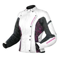 L Ladies Ladies Dririder Vivid Jacket Dri Rider White Pink Purple Motorbike