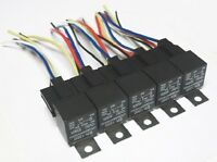 5 Pack - 30/40 Amp Relay & Wiring Harness SPDT 12 Volt Bosch Style 5-pin Auto