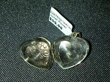 Sterling Silver Floral Heart Locket pendant charm or pendant New