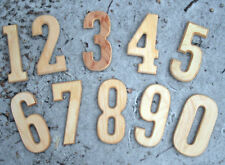 """numbers 0,1,2,3,4,5,6,7,8,9  040 abs plastic molds each 5.5""""H x 1/3"""" thick"""