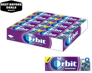 Wrigley's Orbit Blueberry (Arandanos) Chewing Gum - 30 x 14g - BBE 19/02/21