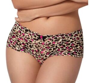 New Boux Avenue Brown Mix Animal Print Shorts Knickers UK Sizes 10 12 14