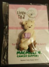 Lickle Ted - Teddy Bear Sitting Down with A Cuppa - Charity Rubber pin Badge #CH