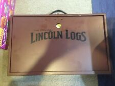 Pre Owned The Original Lincoln Log Collector's Edition in a Solid Wooden Case