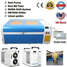 100w 1060 Co2 Laser Cutting Machine Ruida Dsp System Auto Focus Cw 5200chiller