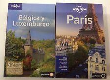 Guias Lonely Planet Bélgica y Luxemburgo edición 2010 + Paris edición 2013