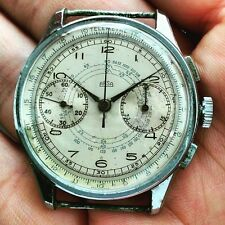 VINTAGE CHRONOGRAPH CRONOGRAFO ARSA TRIPLE SIGNED '40 JUMBO MULTISCALES VEN. 175