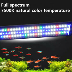 "12""-48"" LED Aquarium Light Bar Strip Full Spectrum Fish Tank Extendable 2 Modes"