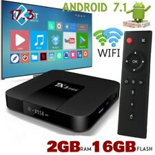 TX3 Mini Caja de TV/Android 7.1/2 GB RAM + 16 GB Almacenamiento/4K HD Media Player 2017