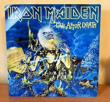 More details for iron maiden-live after death 12x12 inch metal sign