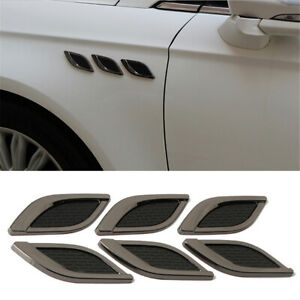 Metal 3D Shark Gill Car Sticker For Fender Side Fake Vent Modified Car-Styling