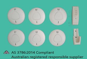 ANKA PHOTOELECTRIC SMOKE ALARM PACK OF 6 WITH REMOTE 10 YEAR LITHIUM BATTERY DIY
