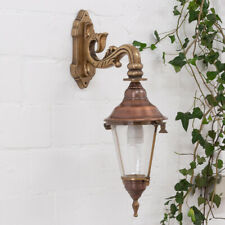 Kupfer-Messing Lampe, edle Wandlampe, Außenleuchte, Wandleuchte, Gartenlampe