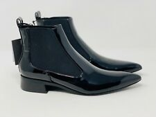 Zara Womens Boots Black Patent Pointed Pull On Stretch EU 35 US 5 7159/201 NWT