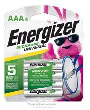 4CT Energizer Rechargeable AAA Batteries, NiMH, 700 mAh, Universal NH12-700 HR03