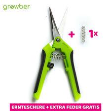 ERNTESCHERE GERADE+ 1x GRATIS FEDER - Blütenschere Pflanz Schere Trimmschere