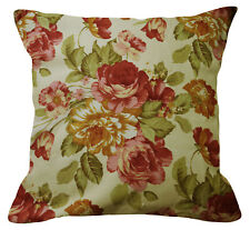 Pillow Cover*Rose Cotton Canvas Sofa Seat Pad Cushion Case Custom Size*AF1