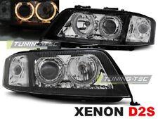 Klarglas Angel Eyes Xenon D2S Scheinwerfer Set Audi A6 4B C5 2001 - 2005 schwarz