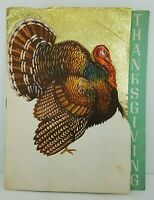 1951 Fort Monroe VA Consolidated Mess Thanksgiving Menu Army HeadquartersCompany