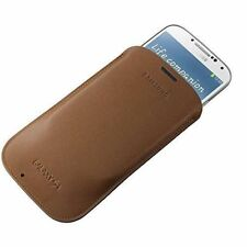 Genuine Samsung REAL Leather Pouch for Galaxy S4 (i9500) EF-L1950BAE BEIGE New