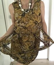 BY NIKOLA FINETTI WOMENS DRESS LINED BUBBLE PRINTED SLEEVELESS SZ 14