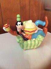 Disney Direct Vintage Rare Goofy Ceramic Teapot Bright Colors