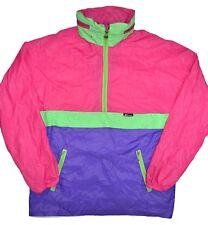 K-Way Vintage Pullover Windbreaker Womens L/Xl Mens M/L Pink 80s 90s Kangaroo