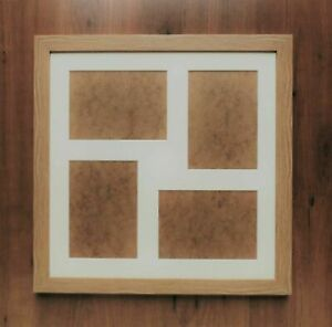 """Multi Aperture Mount Picture Frame in a Natural Oak finish - for 4 @ 7x5"""" prints"""