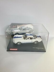 1/32 CARRERA EVOLUTION FORD MUSTANG GT350 1965 SLOT CAR WHITE NEW
